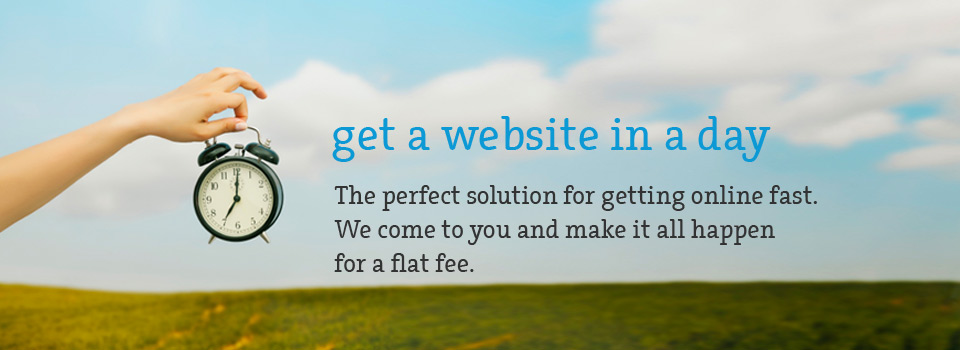 Get a website in a day