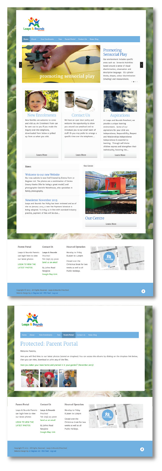 Leaps and Bounds Preschool Website